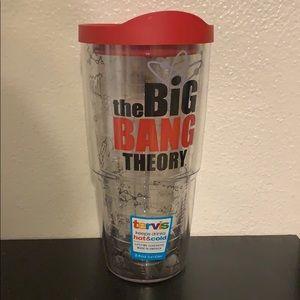 Tervis tumblr with Big Bang theory logo